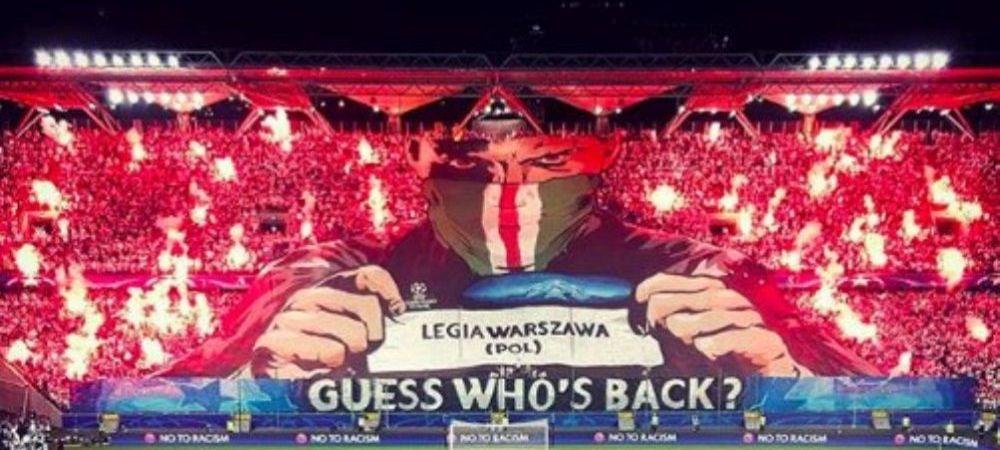 """Ghici cine s-a intors!"" Coregrafie FENOMENALA aseara in Champions League. Fanii Legiei Varsovia au oferit imagini incredibile"