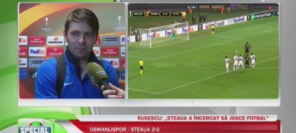"""""""Imi pare rau pentru Steaua, dar calificarea se joaca"""". Ce spune Rusescu dupa ce si-a invins echipa de suflet"""