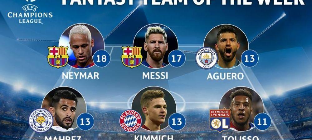 Cum arata echipa ideala din Liga dupa etapa cu scoruri uriase: Barca 7-0 Celtic, Bayern 5-0 Rostov, Legia 0-6 Dortmund. Primul 11