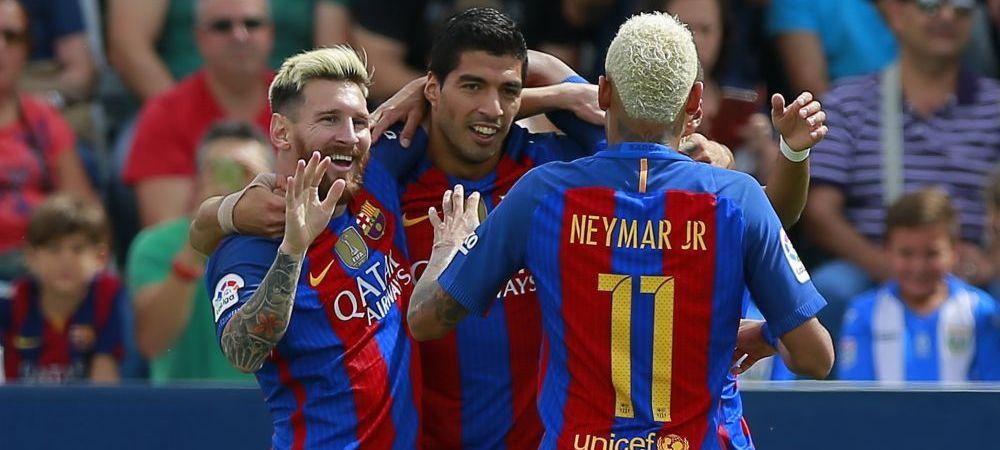 Harlem Globetrotters. Fabulos: trio-ul MSN, la 10 goluri intr-o saptamana, dupa reusitele din meciul cu Leganes. Cifrele incredibile ale lui Messi, Neymar si Suarez in 2 ani