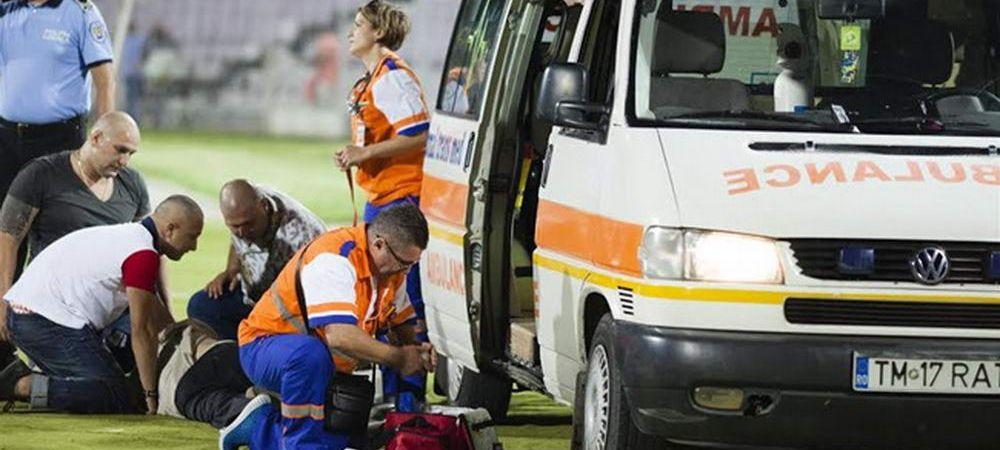 INCREDIBIL! Barbatul care a murit in tribune la Timisoara - Steaua ar fi fost resuscitat de trei spectatori! Ambulanta nu era pregatita sa intervina!