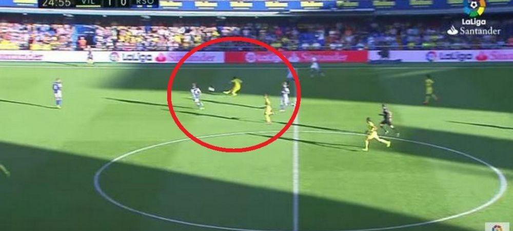 Gol formidabil marcat de un viitor adversar al Stelei: Sansone, de la Villarreal, a inscris golul weekendului in Spania, cu un sut de la jumatatea terenului