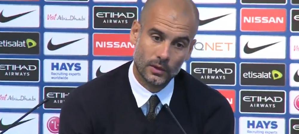 """""""What the f**k?"""" Reactia lui Guardiola la intrebarea unui jurnalist! """"Sa nu uitam cine e City, o echipa care a ajuns o singura data intr-o semifinala Champions League"""""""