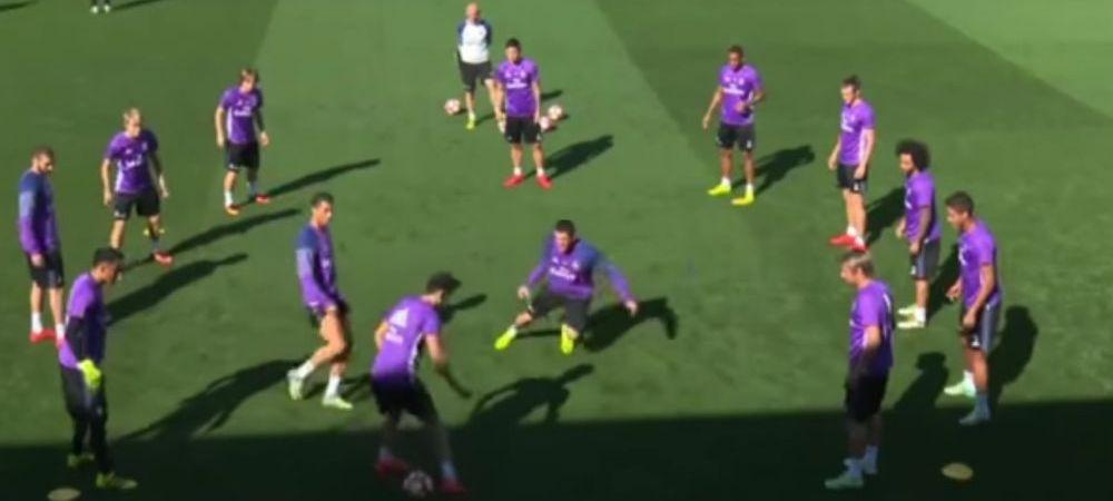 Super faza reusita de fiul lui Zidane in fata lui Cristiano Ronaldo la antrenamentul Realului. Ce a facut: VIDEO