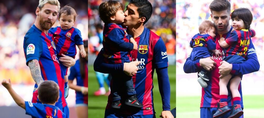 Thiago Messi, Benjamin Suarez si Milan Pique sunt noii jucatori ai Barcelonei. Micutii de doar 3 ani s-au inscris la FCB Escola