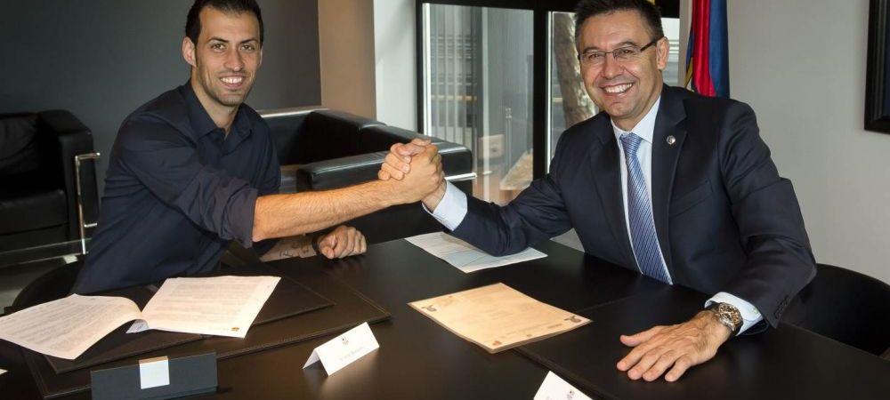 Busquets si-a prelungit contractul cu Barcelona! Are clauza de reziliere 200 de milioane de euro