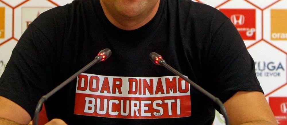 "Dinamovistii continua campania inceputa prin coregrafia-farsa de la Steaua - City. Ce oficial a aparut cu tricoul ""Doar Dinamo Bucuresti"""