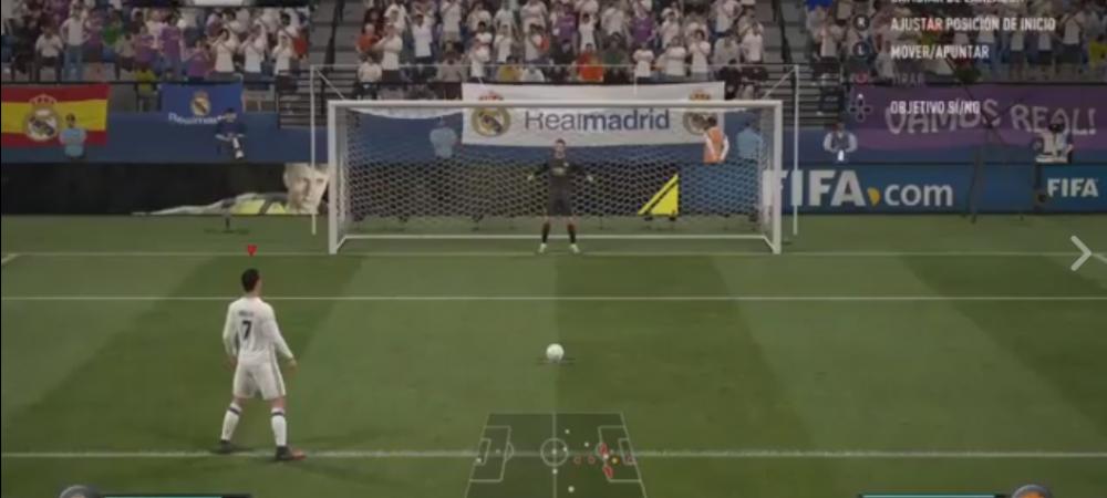 Doar Ronaldo putea sa bata asa un penalty :)) Cea mai noua executie din FIFA 17 - VIDEO | DORTMUND - REAL, marti la ProTV (21:45)