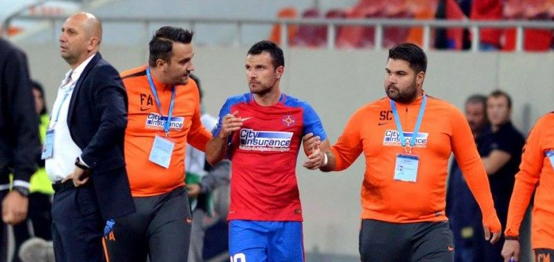 """Ne accidentam de parca facem box, nu fotbal"" Reghecampf anunta inca o operatie la Steaua. Aganovic are dubla fractura de mandibula"