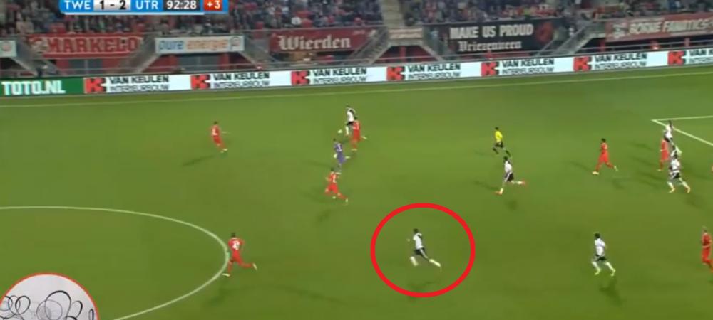 Nu clipi, ca ratezi golul! :) Cursa incredibila a unui atacant de la Ajax: a alergat 100 metri in 10.96 secunde si a dat gol | VIDEO