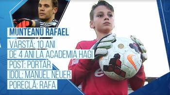 Campionii Viitorului | Micul Rafa, ca marele Neuer. Pustiul de doar 10 ani care apara poarta Academiei Hagi. VIDEO
