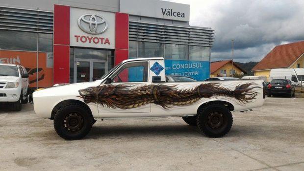 FOTO Cum ar arata o Dacia 1304! Celebrul papuc a fost combinat cu Toyota! Ce a iesit