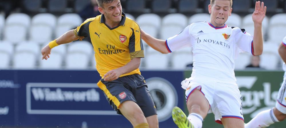 INCA un gol pentru Vlad Dragomir la Arsenal! A marcat superb in Youth League! Un adversar a dat golul carierei din propriul teren