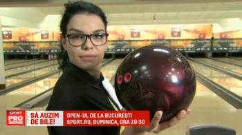 VIDEO | O romanca se bate in weekend pentru castigarea celui mai tare turneu de bowling. Openul Romaniei la bowling e la Sport.ro, duminica, de la 19:30