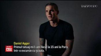 Cel mai tatuat fotbalist din lume! Danezul Agger si-a facut cel de-al 80-lea desen pe piele | VIDEO