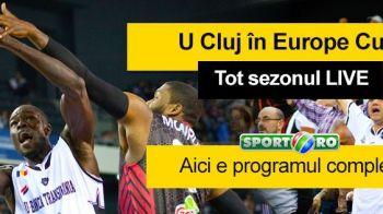 Victorie DRAMATICA pentru U BT Cluj in Europa, LIVE la Sport.ro! Povestea unui meci fantastic | Vezi programul complet al meciurilor clujenilor in Europa transmise de Sport.ro