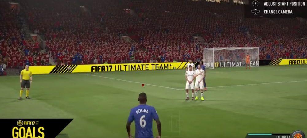 Reusita de 100 de milioane de euro cu Pogba la FIFA 17! Unde a trimis mingea din aceasta pozitie VIDEO