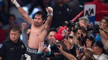 Manny Pacquiao, fabulos! Si-a distrus adversarul cu 10 ani mai tanar la revenirea in ring si a cucerit centura WBO