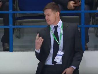 Daca nu in Rusia, atunci unde? Ce face un agent de paza in timpul unui meci de hockey. Vezi video
