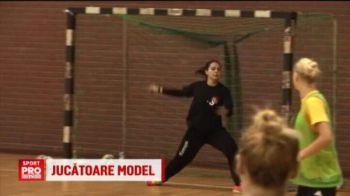 Un fotomodel apara poarta fetelor din nationala de handbal! In ce tinute a facut SENZATIE Elena Voicu in fata aparatului