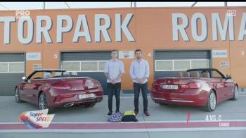 Mercedes vs BMW, faza pe decapotabile! Test comparativ de la Super Speed cu Giurgea si Bratu. VIDEO