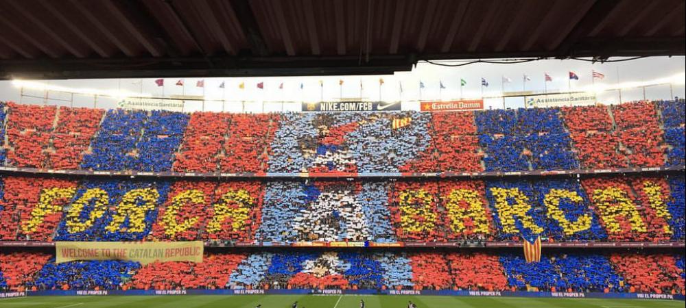 Fara nocturna stinsa, fara torte, fara amenzi! Coregrafia MAGICA a catalanilor de la meciul cu Real. VIDEO