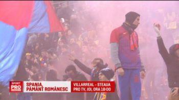 Sustinere mai mare pentru Steaua in Spania decat in Romania! 200.000 de romani asteapta meciul cu Villarreal, joi, 18:00, ProTV!