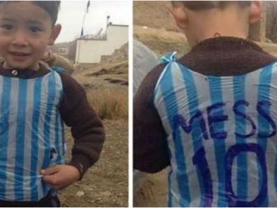 """""""Imaginile asteptate de toata lumea!"""" VIDEO: Cum a reactionat Messi cand s-a intalnit cu afganul de 6 ani care si-a facut tricou de fotbal dintr-o punga rupta"""
