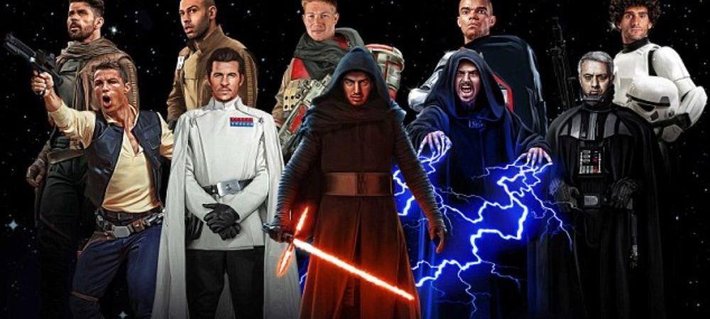 RAZBOIUL STELELOR din fotbal! Imagini senzationale cu Mourinho, Cristiano Ronaldo, Zlatan si Suarez! Cine este Darth Vader :)