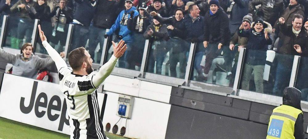 GOLAZO HIGUAIN! Reusita de 90 de milioane din derby-ul cu Roma! Juve a castigat si s-a distantat