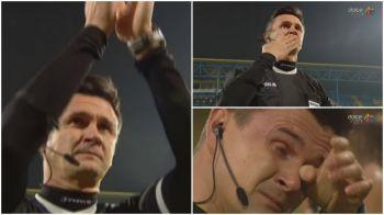 Prima data cand un arbitru primeste cadouri pe teren :) Cristi Balaj nu si-a putut stapani lacrimile inaintea ultimului sau meci