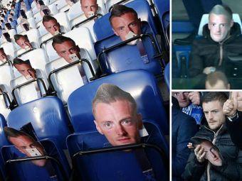 Protest BIZAR cu 30.000 de masti pentru Vardy! Chiar si atacantul lui Leicester a purtat una. FOTO
