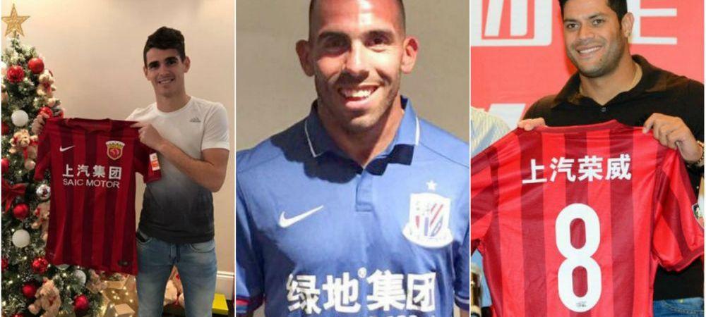 Echipa stelelor Chinei s-ar putea bate cu Real, Barca ori Bayern. Cum arata cel mai tare 11, cu Tevez, Hulk si Lavezzi