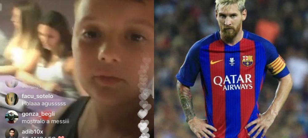 Nepotul lui Messi i-a luat telefonul si a intrat LIVE pe Facebook. Cum l-a surprins pe Messi la 3 noaptea :))