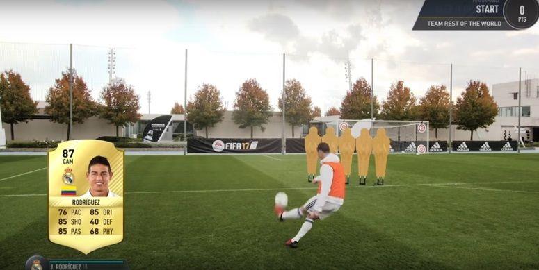 Starurile de la Real au luat parte la provocarea FIFA 17! Cum a putut James sa trimita mingea