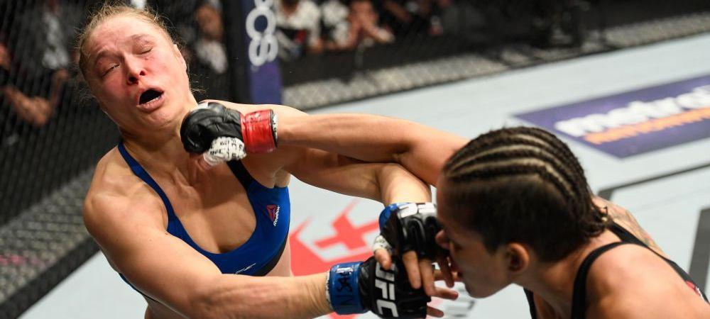 Reactia halucinanta a antrenorului lui Ronda Rousey, dupa ce aceasta si-a luat KO in 48 de secunde. FOTO