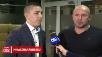 Pe urmele tatalui. Fiul lui Zmarandescu si-a intrecut deja tatal la inaltime si s-a apucat de box si MMA
