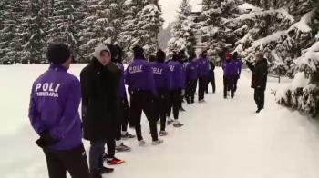 Singura echipa din Romania care NU a fugit de iarna. Cum se antreneaza Timisoara prin zapada