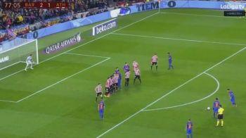 Messi, fotbalistul care a inventat penalty-ul de la...20 de metri. Starul Barcei a dat un nou gol fabulos