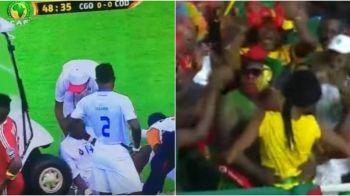 Faze geniale cum numai la Cupa Africii poti vedea: un jucator a fost lovit pe targa, un golazo si un dans bizar al fanilor :)