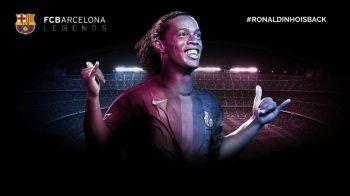 Momentul asteptat de toti catalanii! Ronaldinho a REVENIT la Barcelona! Anuntul oficial