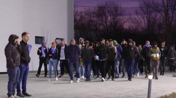 Surpriza mare la antrenamentul Craiovei: fanii au mers sa cante inainte de derby-ul cu Dinamo! VIDEO