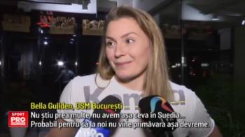 """Campioanele de la CSM Bucuresti au primit martisoare de la jucatorii din echipa de rugby. Gullden: """"Nu stiam acest obicei"""""""