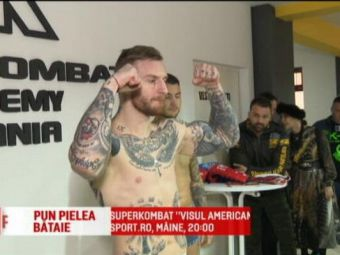 Un luptator din trupele ANTIDROG intra in ring. SuperKombat - Visul American, duminica, 20:00, la Sport.ro
