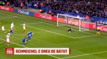 Romania intalneste portarul momentului in Europa! Schmeichel, primul portar din istoria UCL care apara penalty in tur si retur!