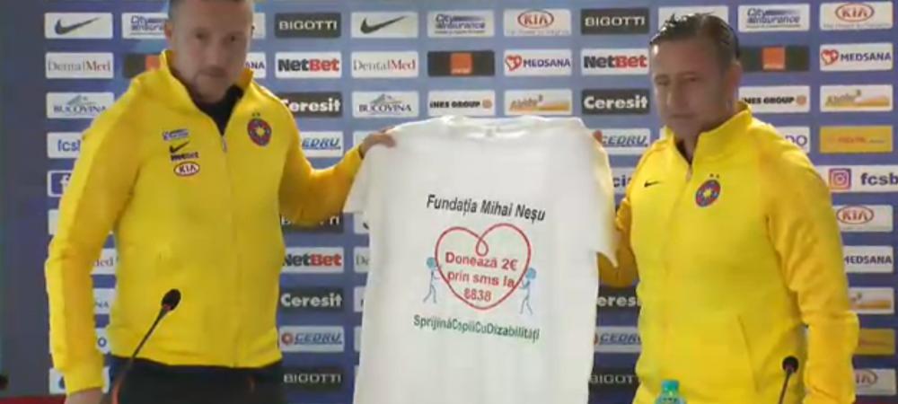 Gest superb inainte de Steaua - Dinamo! Cu ce tricouri vor intra pe teren jucatorii de la marile rivale