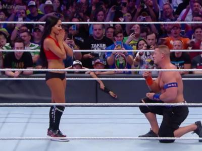 Moment unic in istoria wrestlingului! John Cena si-a cerut in casatorie iubita in mijlocul ringului, la Wrestlemania