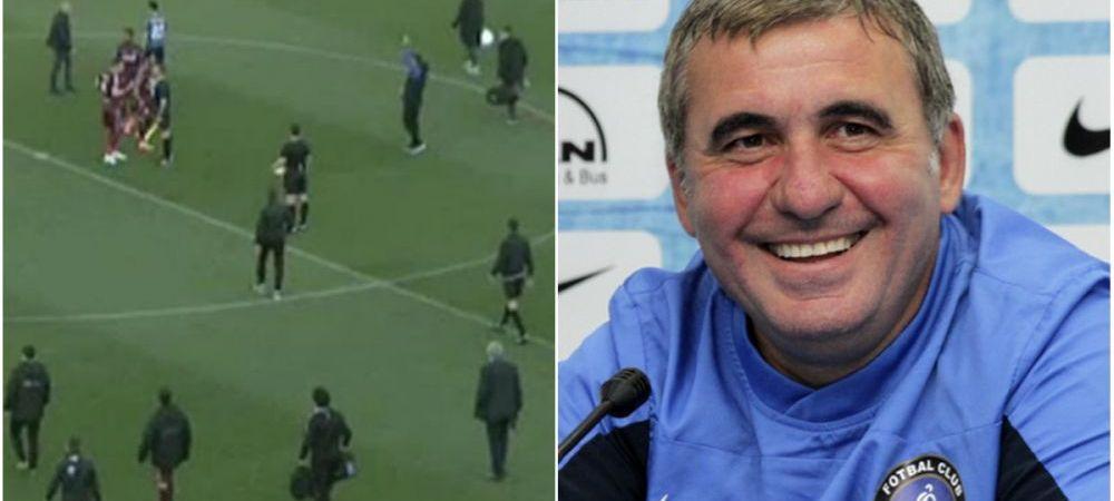 """""""Am vrut sa fiu si eu fotbalist"""". Cum a explicat Hagi conflictul verbal cu Mario Camora, din pauza meciului cu CFR"""
