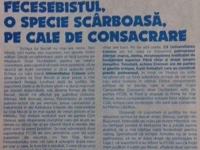 """RUSINOS! Programul de meci al Craiovei: """"Fecesebistul, o specie scarboasa!"""" Cum este jignit Duckadam"""
