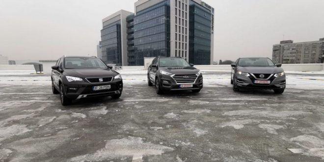 VIDEO comparativ: Hyundai Tucson, Nissan Qashqai, SEAT Ateca, VEZI care e cea mai buna